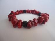 Гривна от Червен Корал - Червено и черно