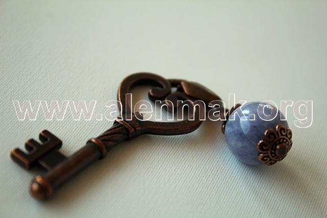 Ключодържател с Аквамарин - Вълшебното ключе