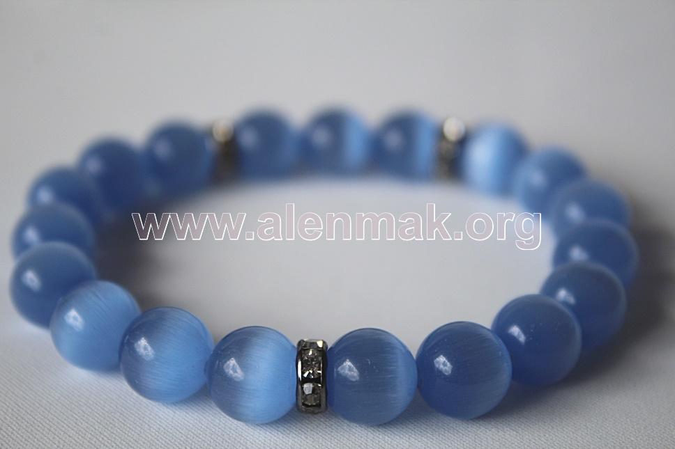 Гривна от Котешко око - Рапсодия в синьо