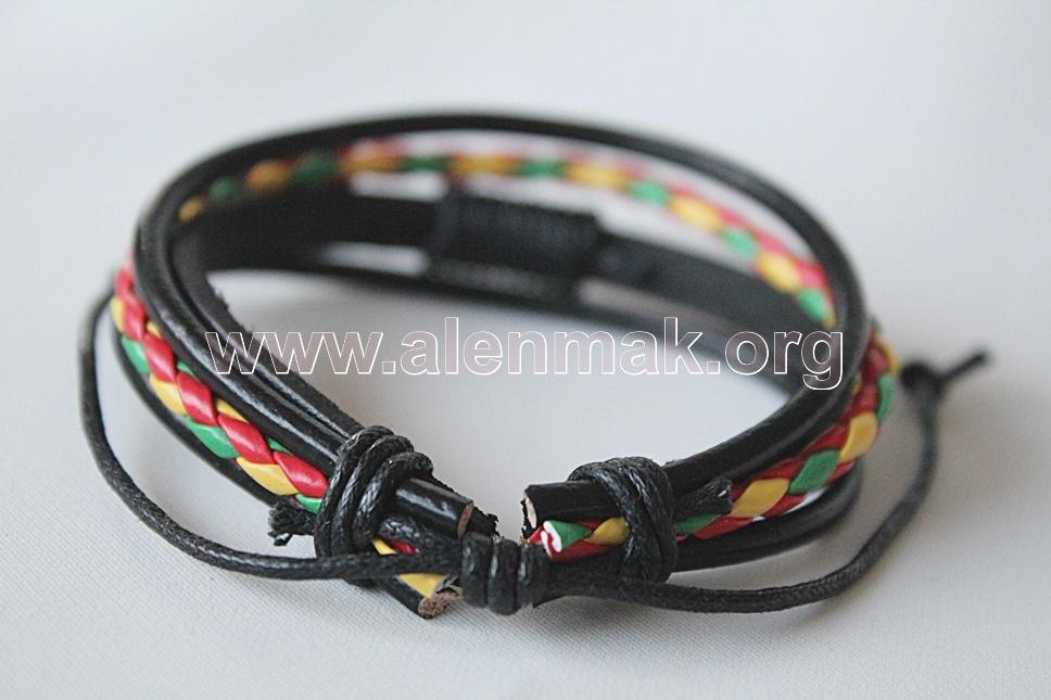 Гривна Дързост - черно, червено, зелено и жълто