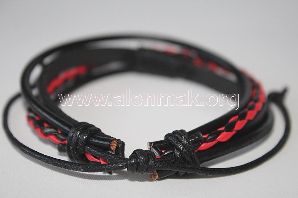 Гривна Дързост - черно и червено