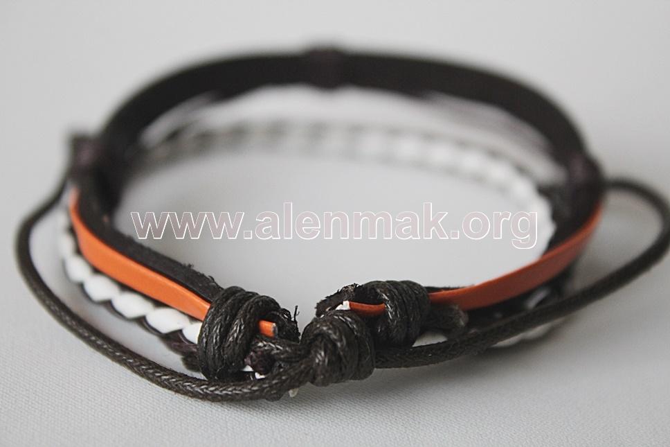 Гривна Стремеж - кафяво, оранжево и бяло